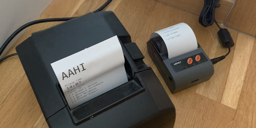 Connecting your POS receipt printer to the partner app